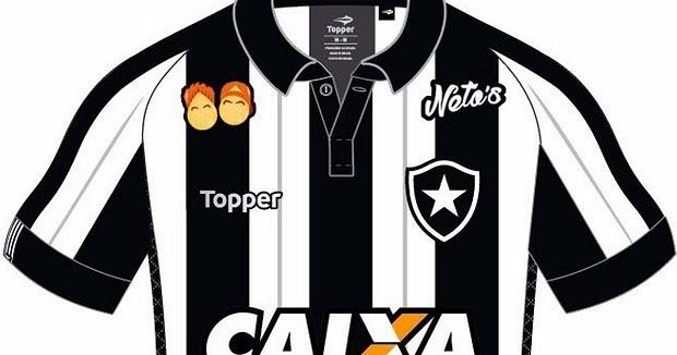 869289c243 Botafogo fecha patrocínio pontual na camisa com empresa dos youtubers -  Show de Camisas