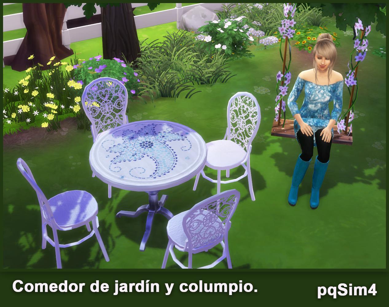 Comedor de jard n y columpio sims 4 custom content for Comedor para jardin