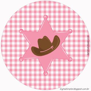 Vaquerita Morena: Wrappers y Toppers para Cupcakes para Imprimir Gratis.
