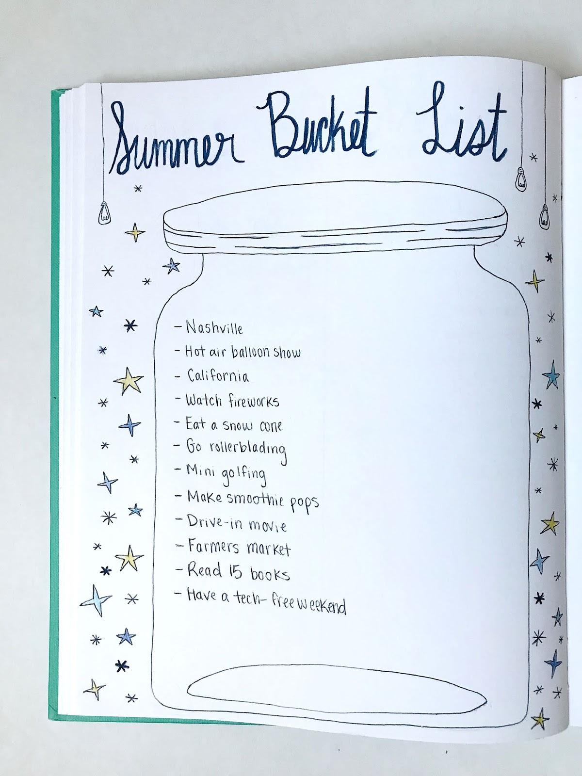 Summer Bucket List 2018