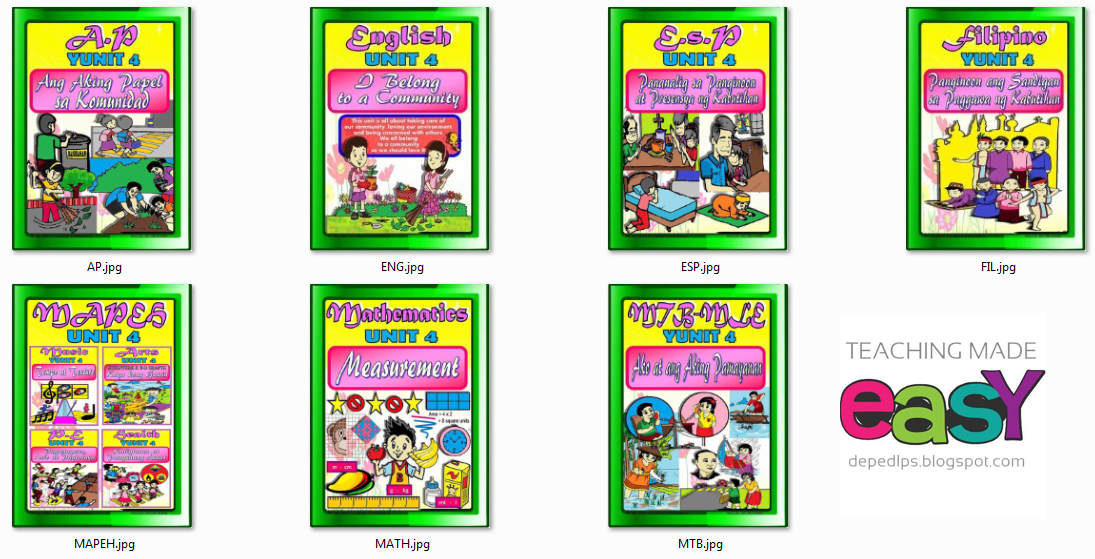 Grade 2 K-12 Bulletin Boards 4th Quarter Period - DepEd LP\'s