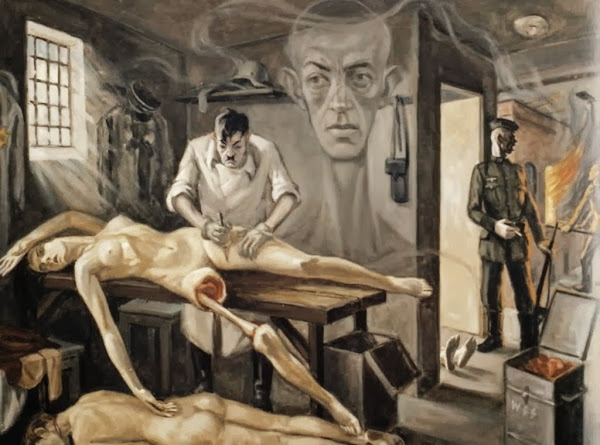 Crematoria camps-death, David Olère, Auschwitz, Shoah, Holocaust, Macabre Art, Macabre Paintings, Horror Paintings, Freak Art, Freak Paintings, Horror Picture, Terror Pictures