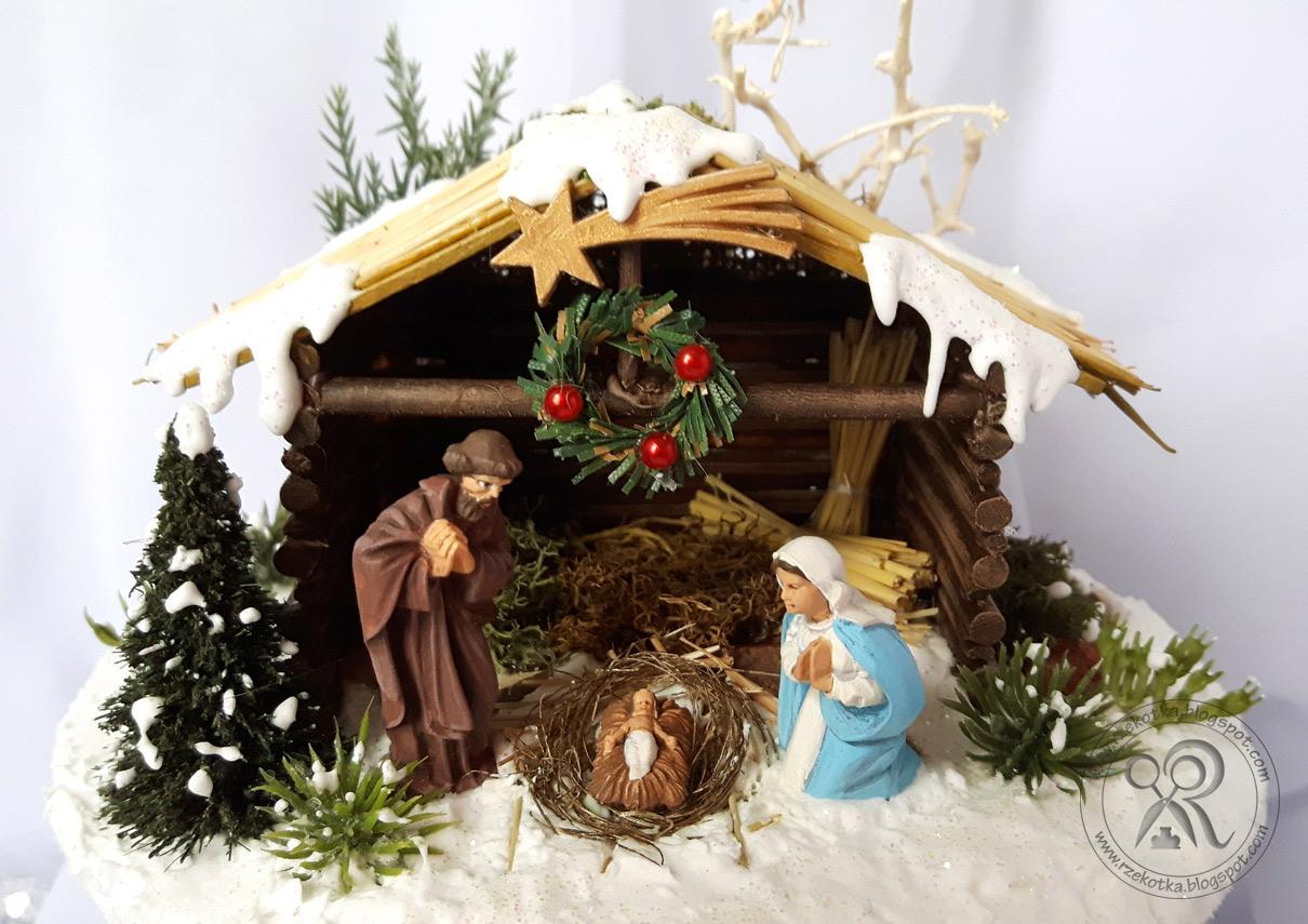 Szopka bożonarodzeniowa w bombce
