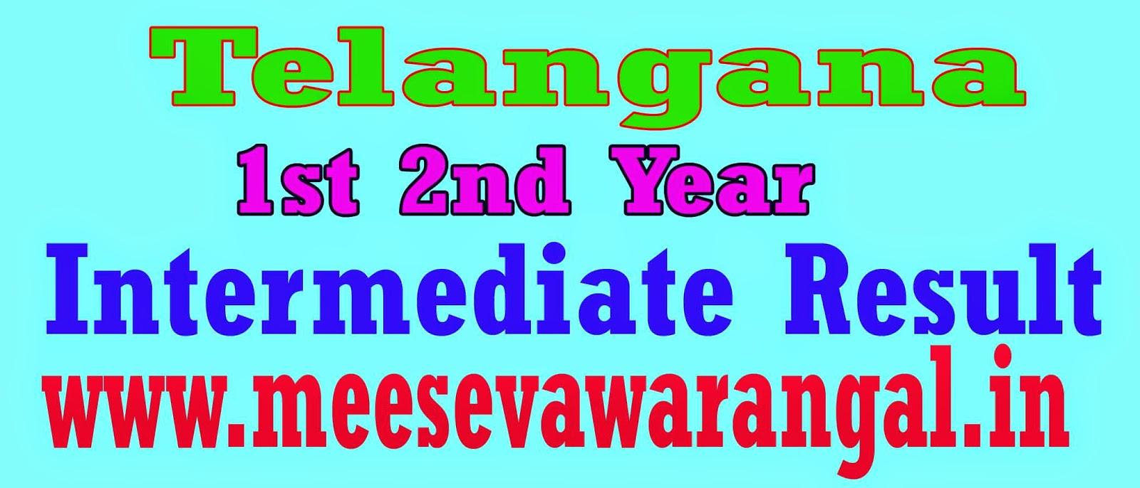 Inter 1st Year 2nd Year Result Telangana State