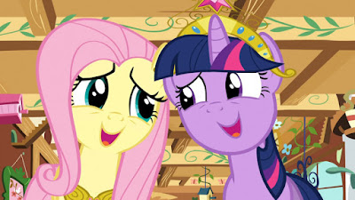 "Fluttershy and Twilight singing ""A True, True Friend"""