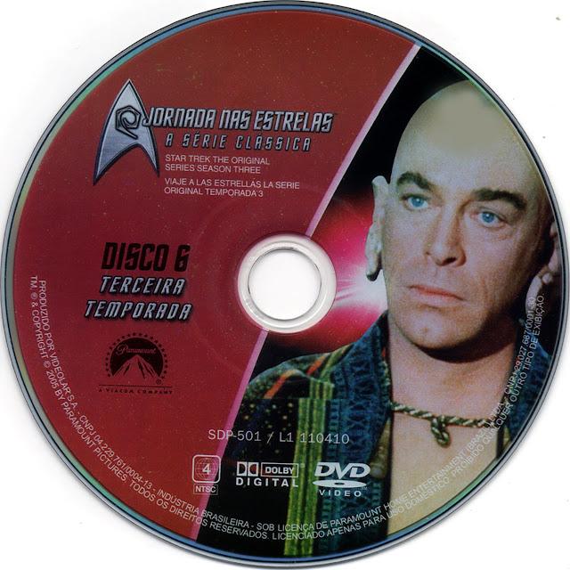 Label DVD Jornada nas Estrelas A Série Clássica Terceira Temporada Disco 6 (Oficial)