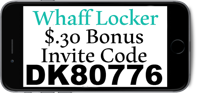 $.30 Bonus Whaff Locker Invite Code, Referral Code and Sign Up Bonus 2018-2019