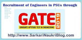 Recruitment in PSU by GATE 2019