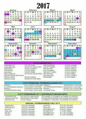 kalendar 2017