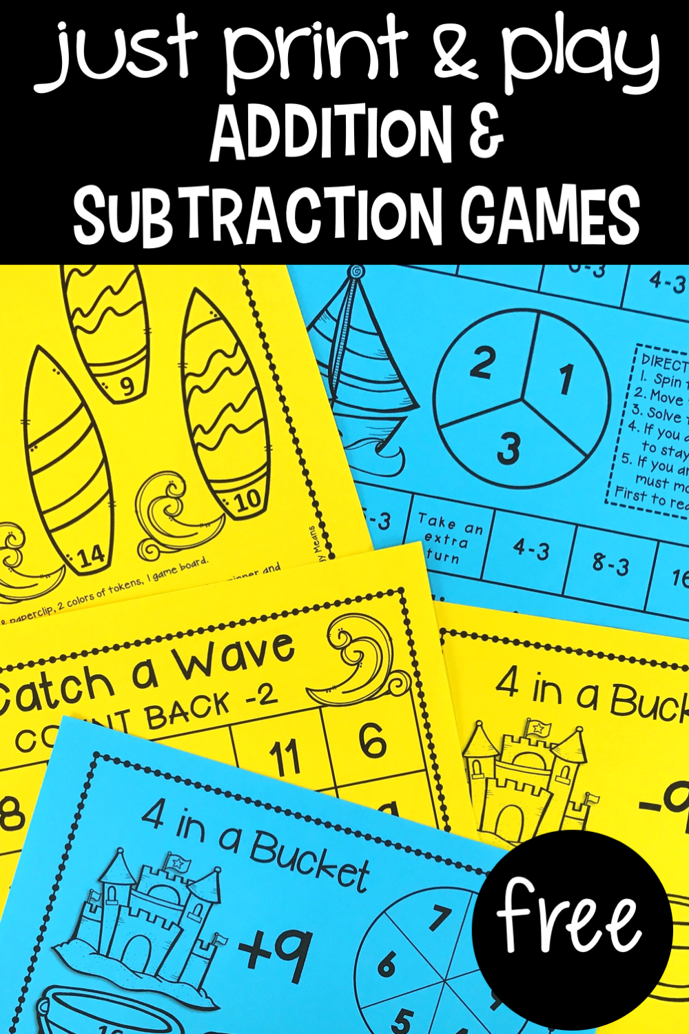 Addition & Subtraction Games - Primary Flourish