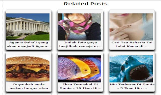 Cara membuat related posts by label horizontal