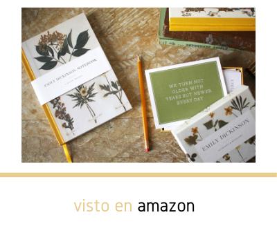Un diario en blanco para regalar, inspirado en los escritos y jardines del poeta