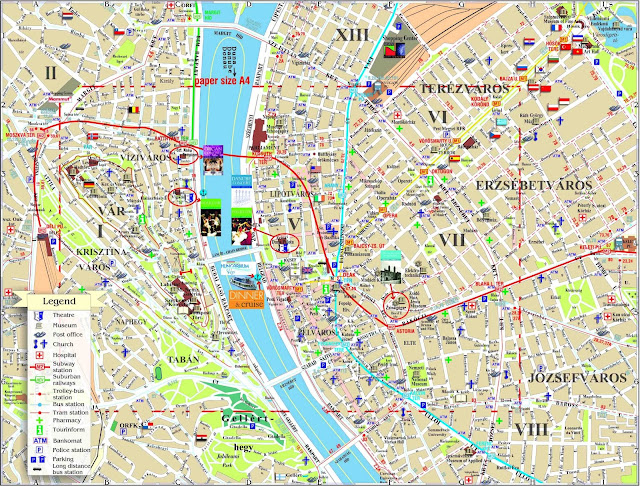 Budapeste center map