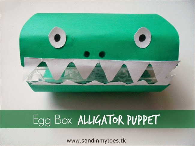 Egg Box Alligator Puppet