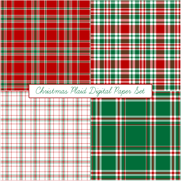 free Christmas digital paper