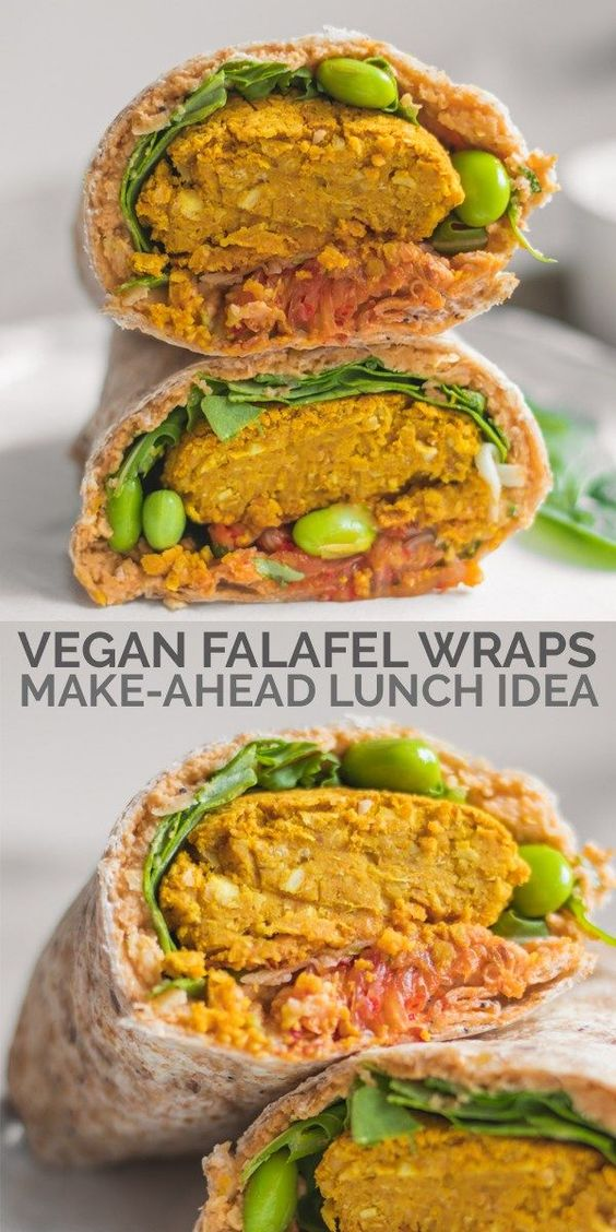 Edamame And Kimchi Vegan Falafel Wrap