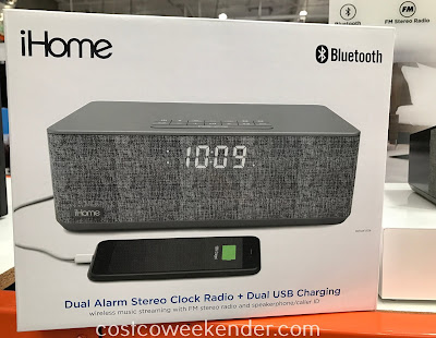 Costco 1270233 - iHome Dual Alarm Stereo Clock Radio (iBT233): better than conventional alarm clocks from yesteryear