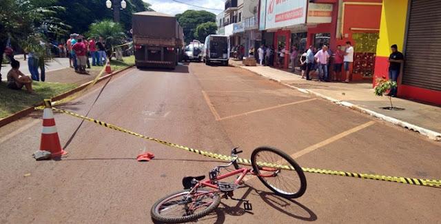 Campina da Lagoa: Ciclista morre após ser atropelado por uma carreta