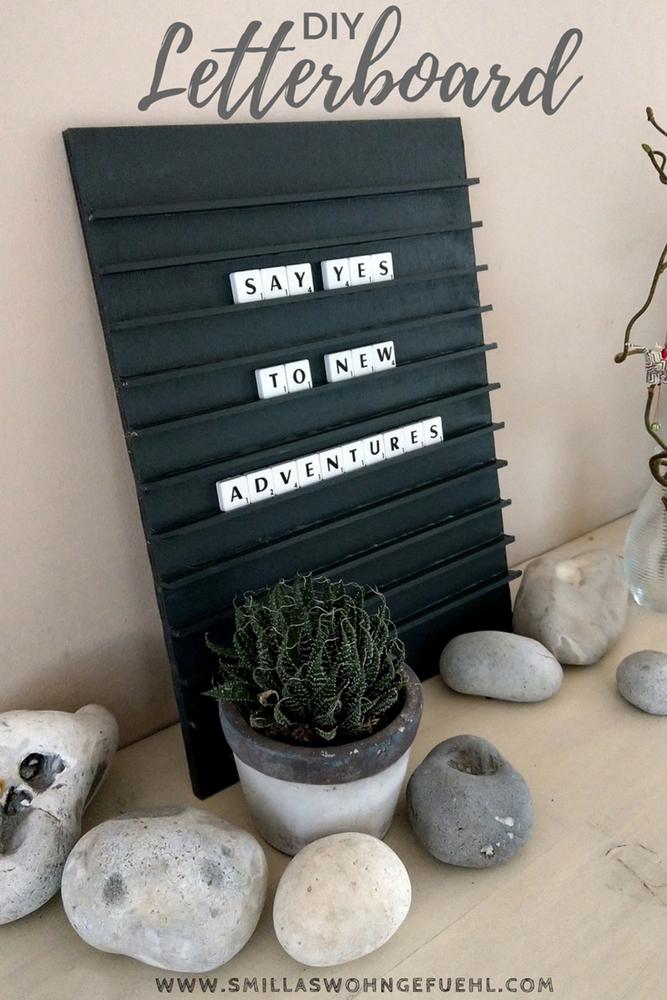 DIY Letterboard mit Scrabble Buchstaben
