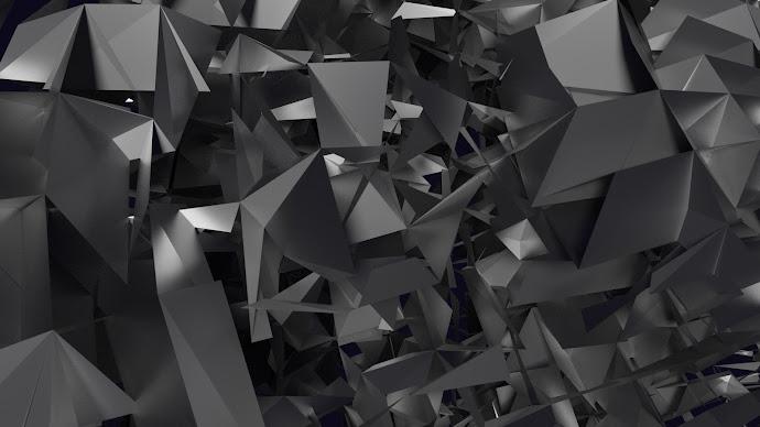 Wallpaper: Dark Abstract Shapes