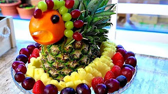 Pineapple Garnish   Pineapple Food Art   Party Garnishing and Make A Wonderful Fruit Center