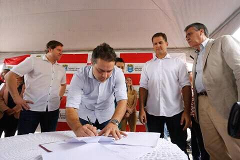 Governador Renan filho participou da entrega de obras em marechal Deodoro.