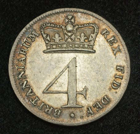 Coins Of Great Britain 4 Pence Silver Coin Of 1820 King
