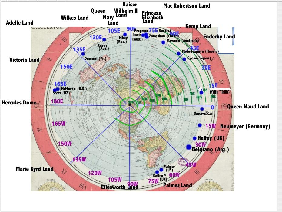 Official Flat Earth Map.Rick Potvin S Virtual Circumnavigation Of Antarctica To Decide If