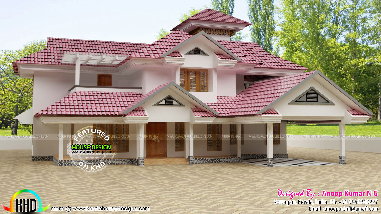 New Slope Roof House Plan Kerala Home Design And Floor Plans