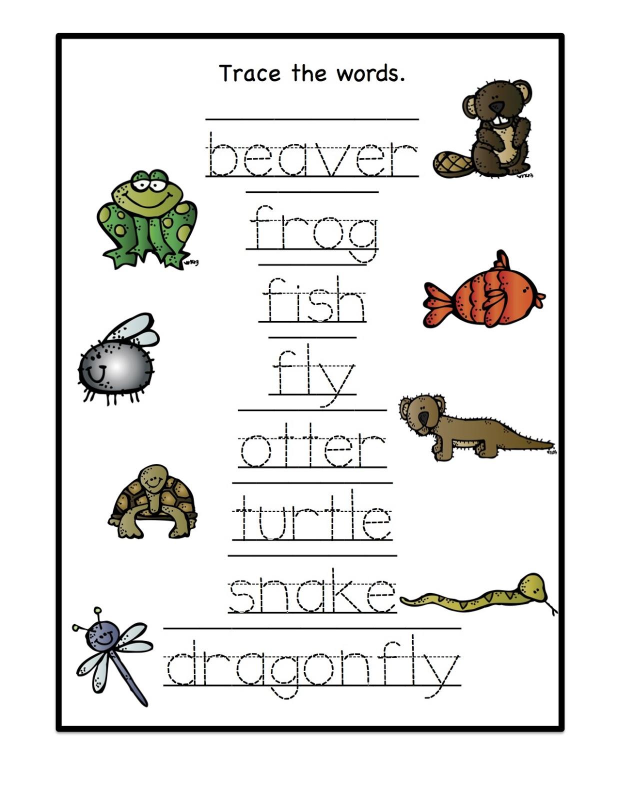 Printable Pond L...Y Words For Kindergarten