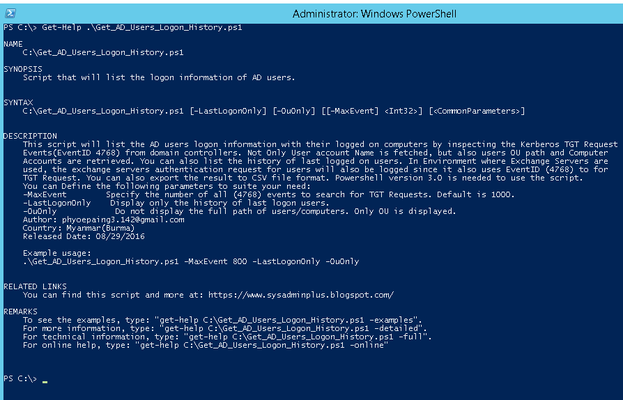 A Blog to a System Admin's Passion: Powershell: Find AD