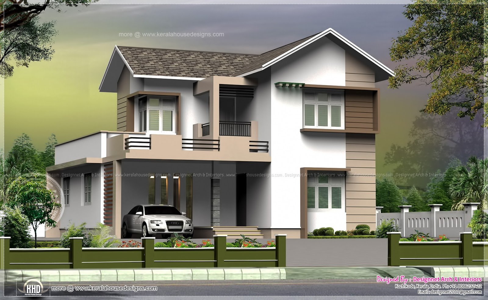 1965 Square Feet Small Villa In 5 Cent Plot Kerala Home Design And Floor Plans