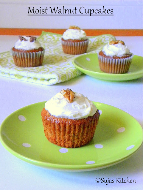 How to bake Moist Walnut Cupcakes, Moist walnut cupcakes,