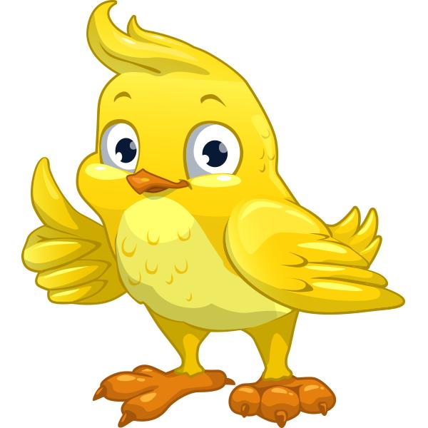 Cheerful Yellow Bird Sticker
