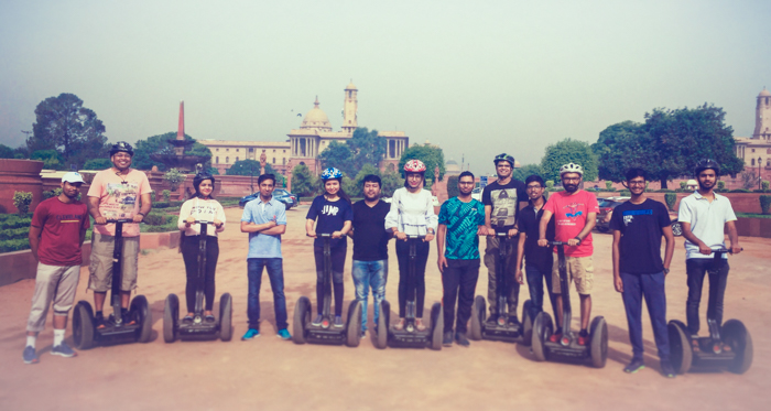 Rajpath Segway Tour just touches the entry points of President's House, Parliament and India gate which is not more than 30 mins and 10-15 mins go into trying the machine and getting used to it. It's pretty simple to operate a Segway and chances of falling down from it is very low unless you break the basic rules.