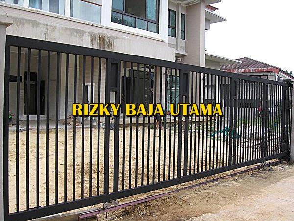 pintu gerbang bengkel las konstruksi baja rizky baja utama