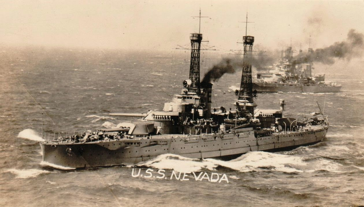 USS Nevada off coast of Spain, collection of Ray Rucker 1920s