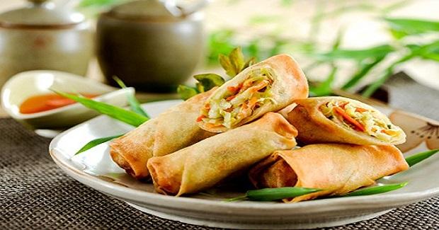 Crunchy Fried Vegetable Shanghai Rolls Recipe