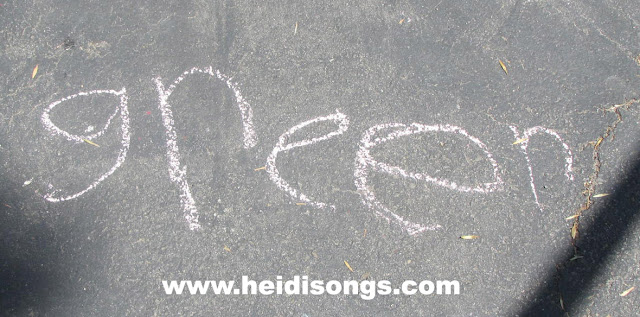 Sight Word Chalk - HeidiSongs