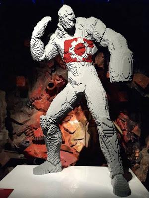 Cyborg in lego brick form