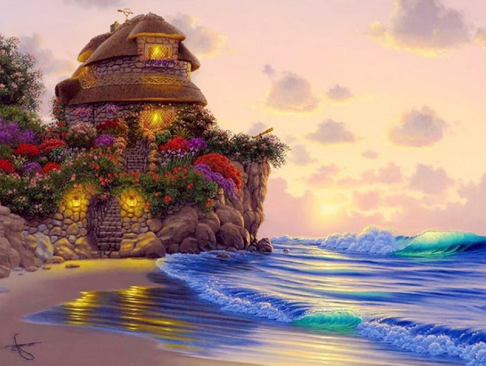 Pinturas cuadros lienzos paisajes de hawai - Lienzos decorativos ...