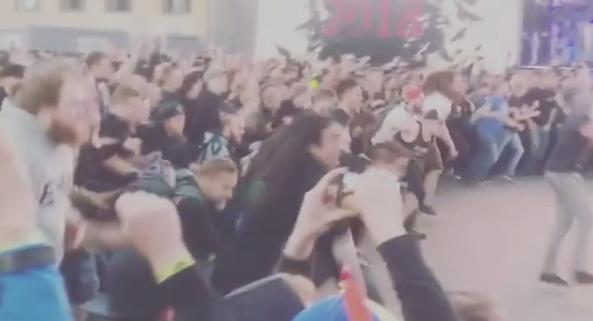 Gojira Asombroso wall of death es captado concierto