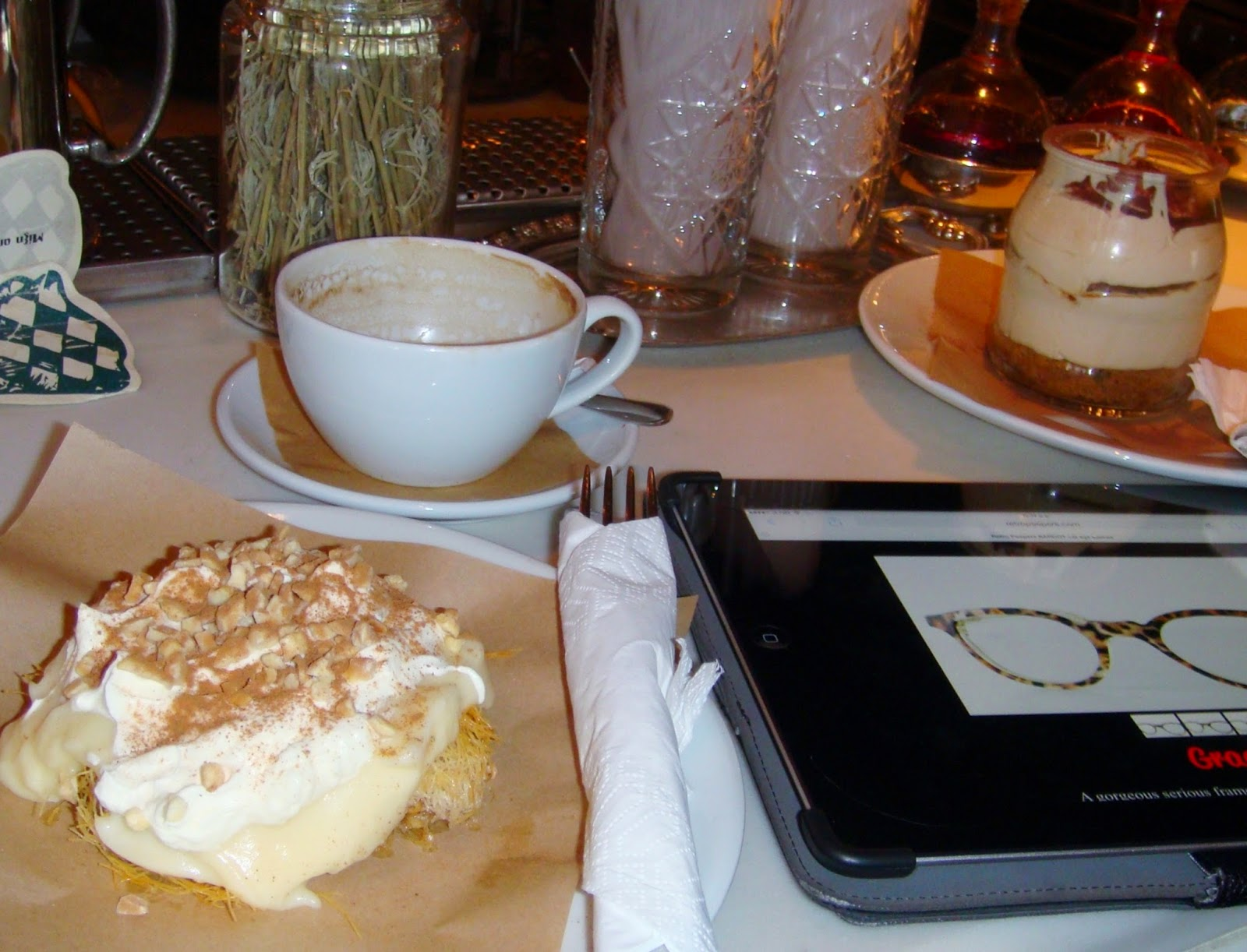 Coffee and cakes in Kalamata