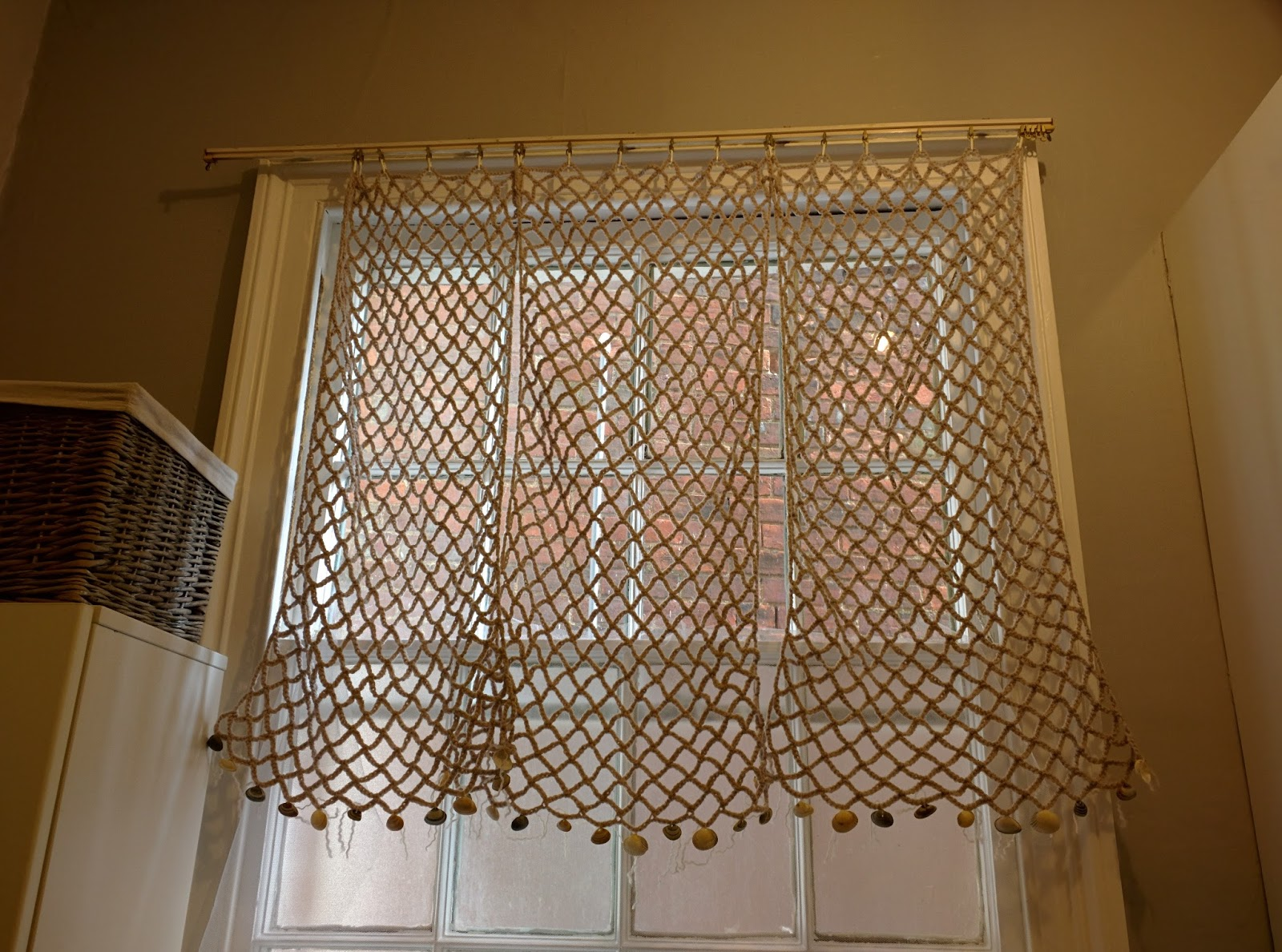 Using A Fishnet Like Stitch I Crocheted 3 Panels To Mimic You Guessed It Fish Nets They Can Be Moved Out Of The Way Individually Allowing Maximise