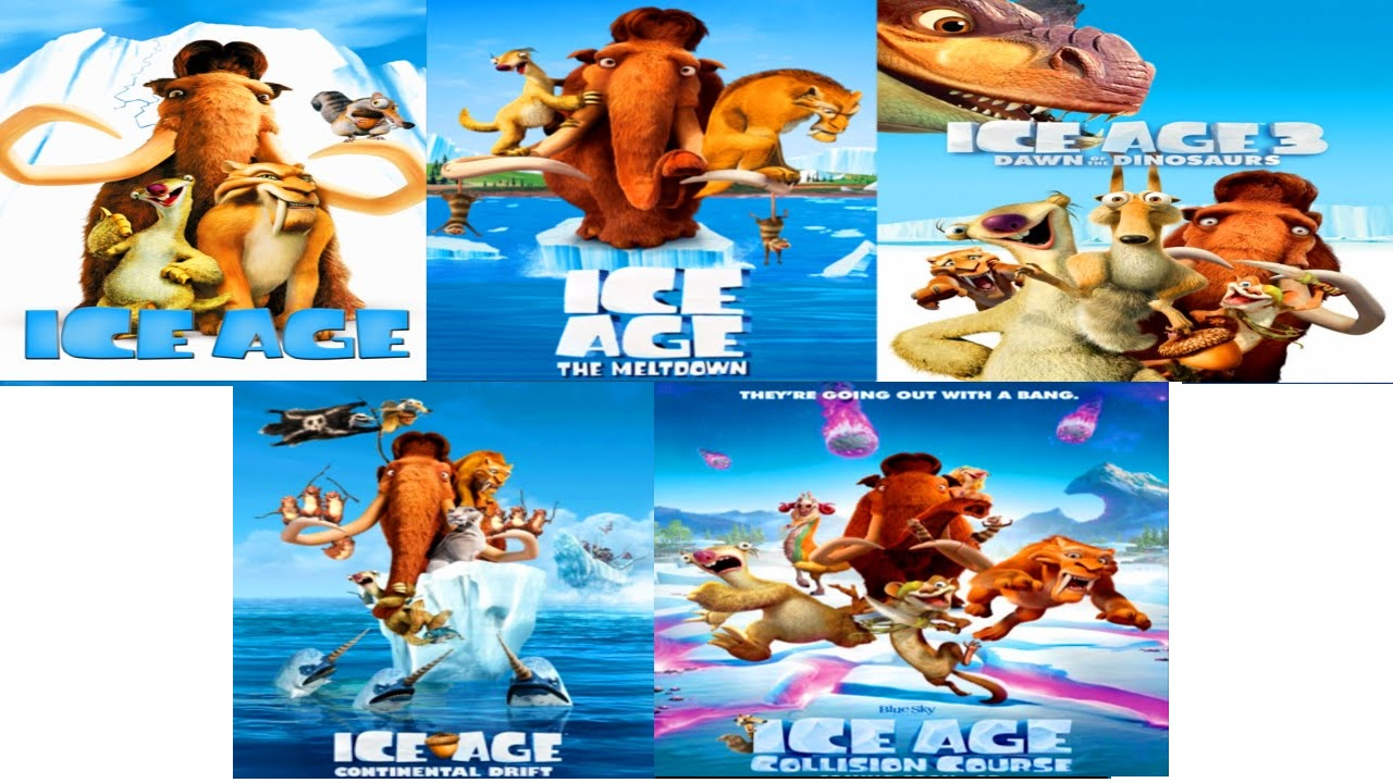 Applications Helps Ice Age 2002 Ice Age 2 The Meltdown 2006 Ice Age Dawn Of The Dinosaur 2009 Ice Age Continental Drift 2012 Ice Age 5 Collision Course 2016