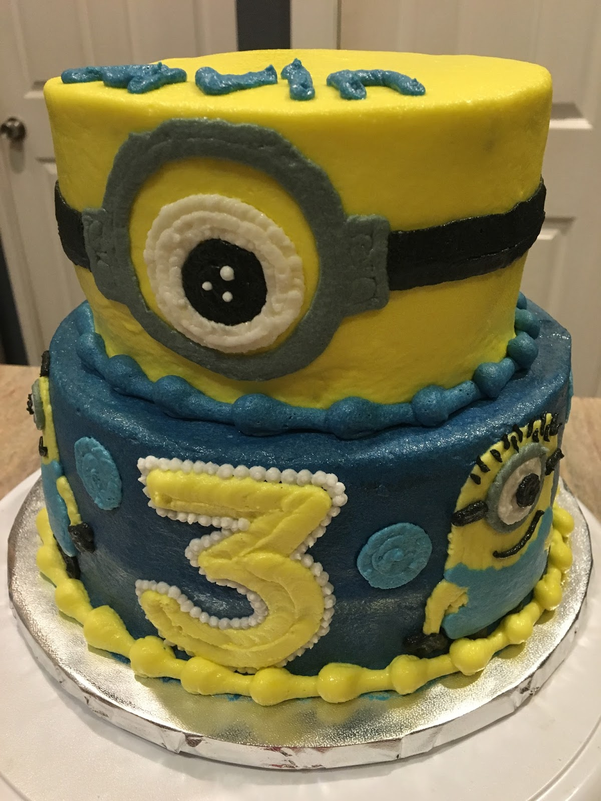 A Counselors Confections Minions Birthday Cake