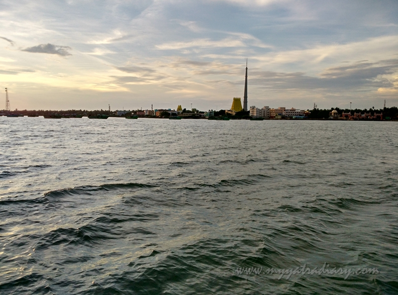 View of Rameshwaram from the Rameswaram sea, Tamil Nadu