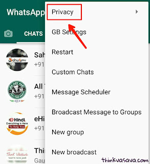 How to hide online on Whatsapp in hindi, Privacy par click kare