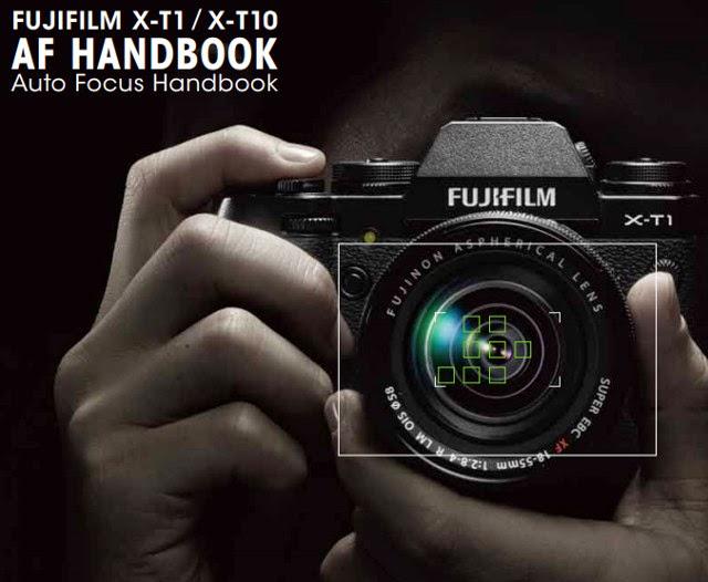 Copertina del manuale dedicato al sistema AF della Fuji X-T1 e X-T10