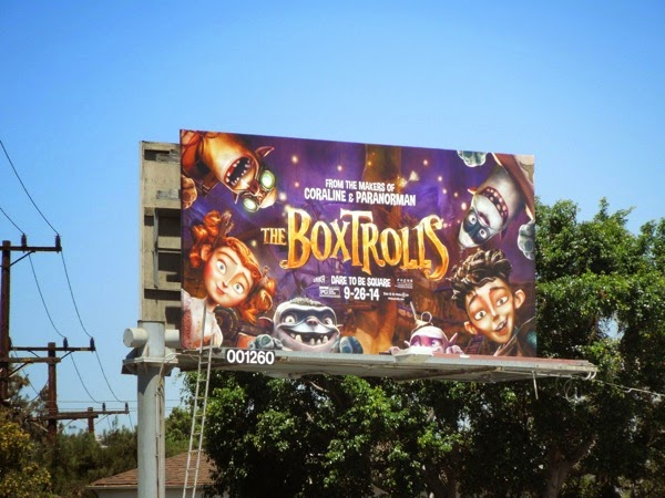 The Boxtrolls film billboard